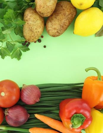 Background of fresh vegetables Stock Photo