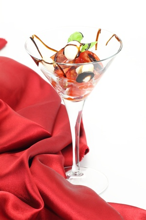 Caprese salad in glass  photo