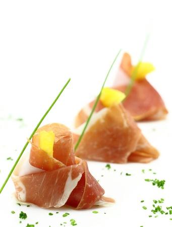 prosciutto: Prosciutto finger food Stock Photo