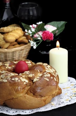 greek food: Easter table