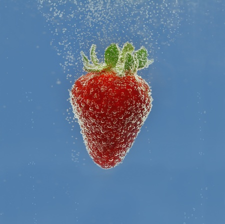 Strawberry in water Stock Photo - 13733597