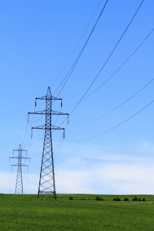 outdoor electricity: Electric Power Transmission Lines