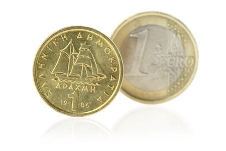 greek coins:  Euro or Drachma