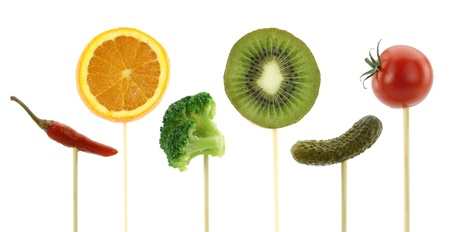 Healthy eating concept. Vegetables and fruits photo