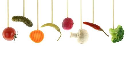 shish: Variety of fresh Vegetables  Stock Photo