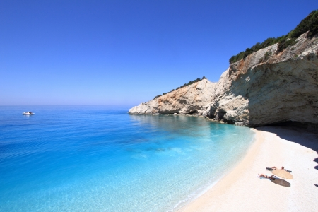 beach cruiser: Porto katsiki beach in lefkada, Greece