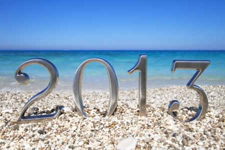 New year 2013 on the beach Stock Photo - 14472187