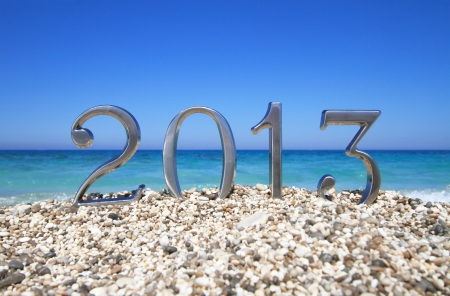 New year 2013 on the beach Stock Photo - 14472145
