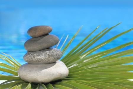 Zen stones pyramid  photo