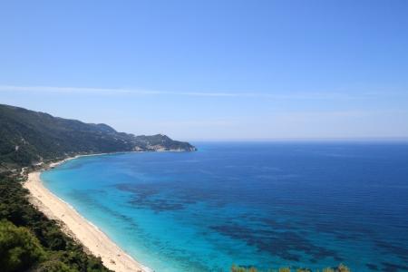 Beautiful beach in lefkada, Greece photo