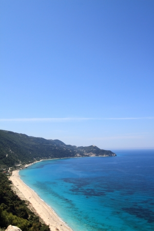 beach cruiser: Beautiful beach in lefkada, Greece Stock Photo