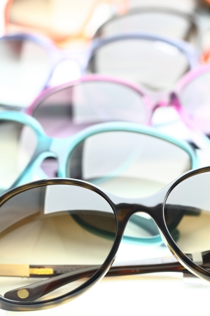 protecting spectacles: Collection of sunglasses on white background