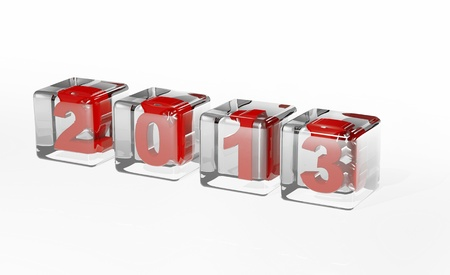 end of the days: New year 2013 3d cubes Stock Photo