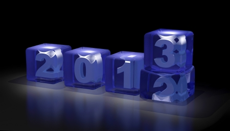 New year 2013 3d cubes Stock Photo - 15117018