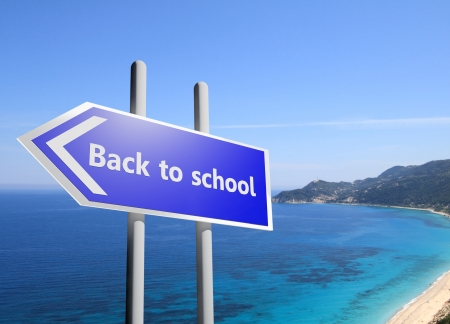 end of summer: Back to school