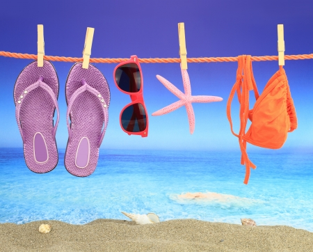 flops: Summer vacation Stock Photo