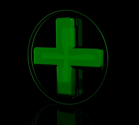 Pharmacy green cross sign photo
