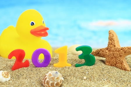 New year 2013 on the beach Stock Photo - 15116963