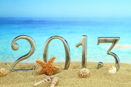 New year 2013 on the beach Stock Photo - 15116975