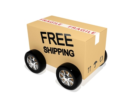 Free shipping cardboard  photo