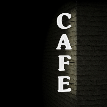 Cafe sign photo