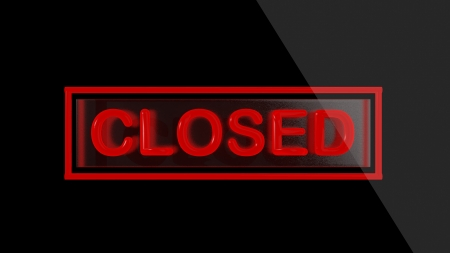 closed sign: Closed sign