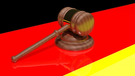 Gavel on the flag of Germany Stock Photo - 15544965