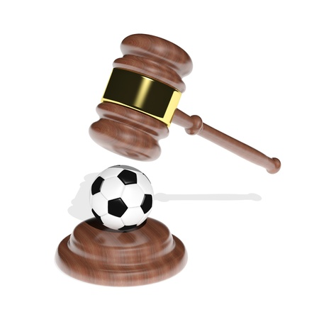 winning bidder: Sport and justice Stock Photo
