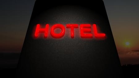 luxury hotel room: Hotel sign Stock Photo