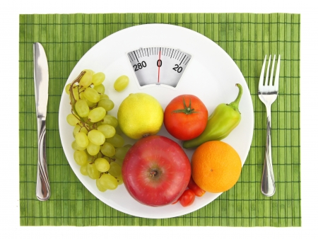 lose balance: Diet and nutrition Stock Photo