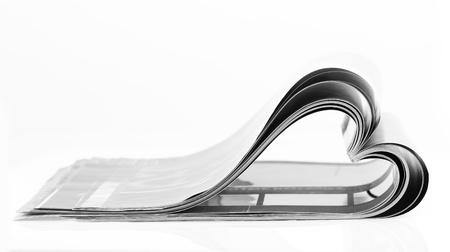 periodical: Selective focus image of magazine folded into a heart shape