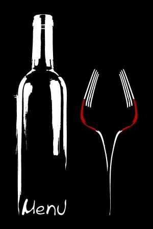 catering: Restaurant menu design  Stock Photo