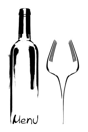 catering service: Restaurant menu design  Stock Photo