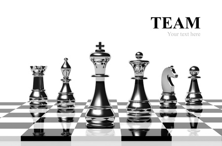 team leader: Chess game Stock Photo