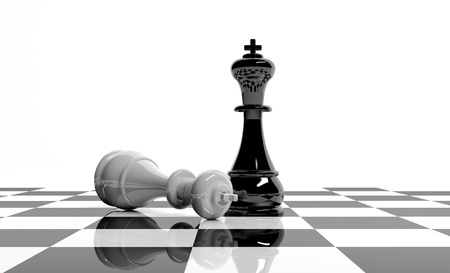 looser: Chess game Stock Photo