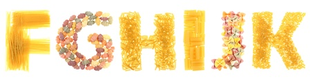 Pasta letters Stock Photo - 15956122