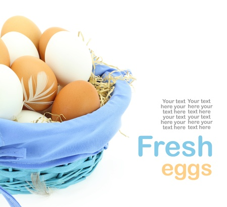 Fresh eggs in the basket Stock Photo - 15962303