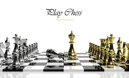 conquest: Chess game Stock Photo
