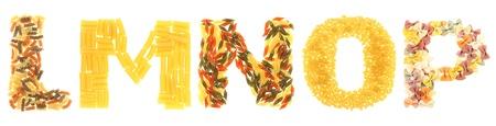 Pasta letters Stock Photo - 15962314