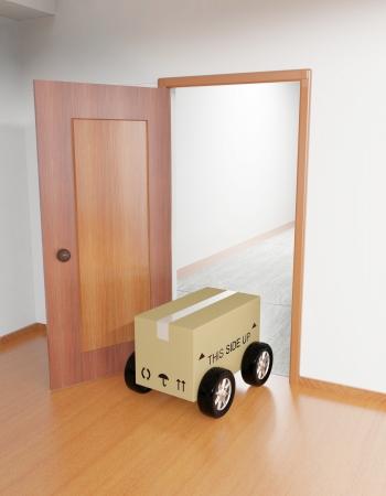 Shipping cardboard box Stock Photo - 15962332