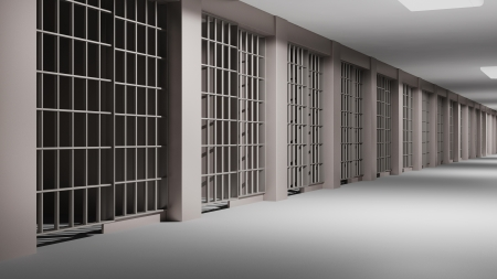 cellule de prison: Prison intérieure Banque d'images