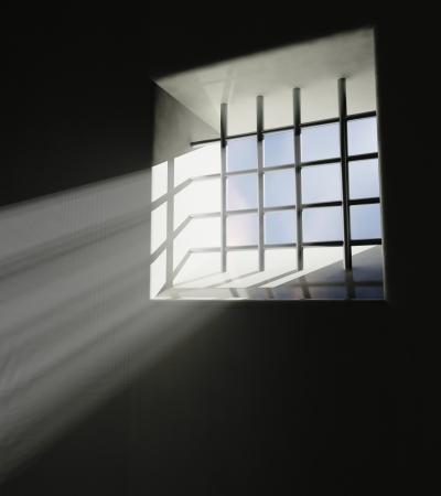 incarcerate: Prison window Stock Photo