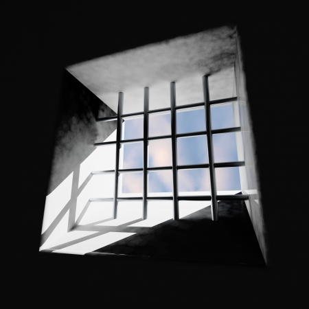 convict: Prison window Stock Photo