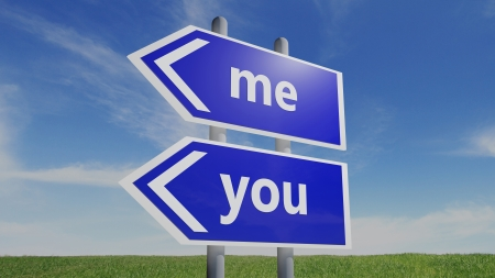 You and me road sign Stock Photo - 15962292