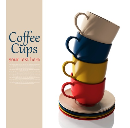coffeecup: Set of colorful cups