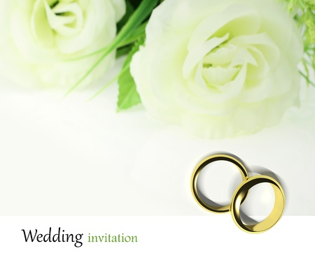 rose ring: Wedding Invitation Card  Stock Photo