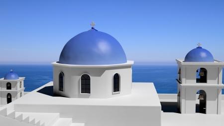 Beautiful island of Santorini in Greece Stock Photo - 16403925