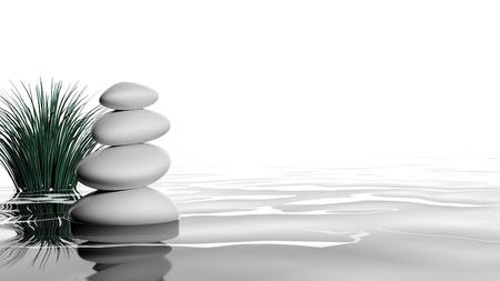 zen stones: Zen stones in the water