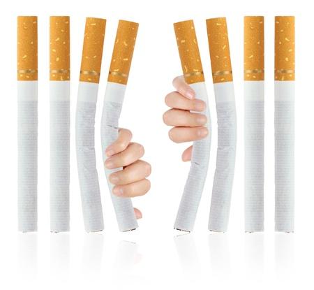 anti social: Quit smoking  Stock Photo