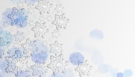 Christmas snowflakes background photo